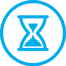 blue i want 2 work icon measure save time