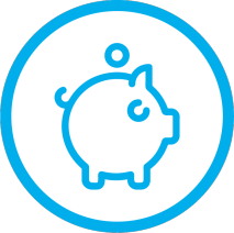 i want 2 work blue piggy bank saving money cost effective for employer hiring