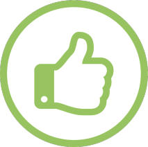 thumbs up green job seeker icon free to sign up