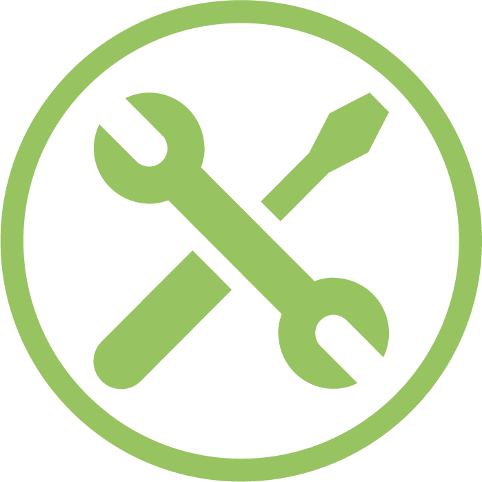 work spanner screw icon in green i want 2 work